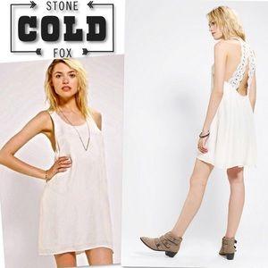 NINAS BY STONE COLD FOX CROCHET IVORY DRESS SZ M
